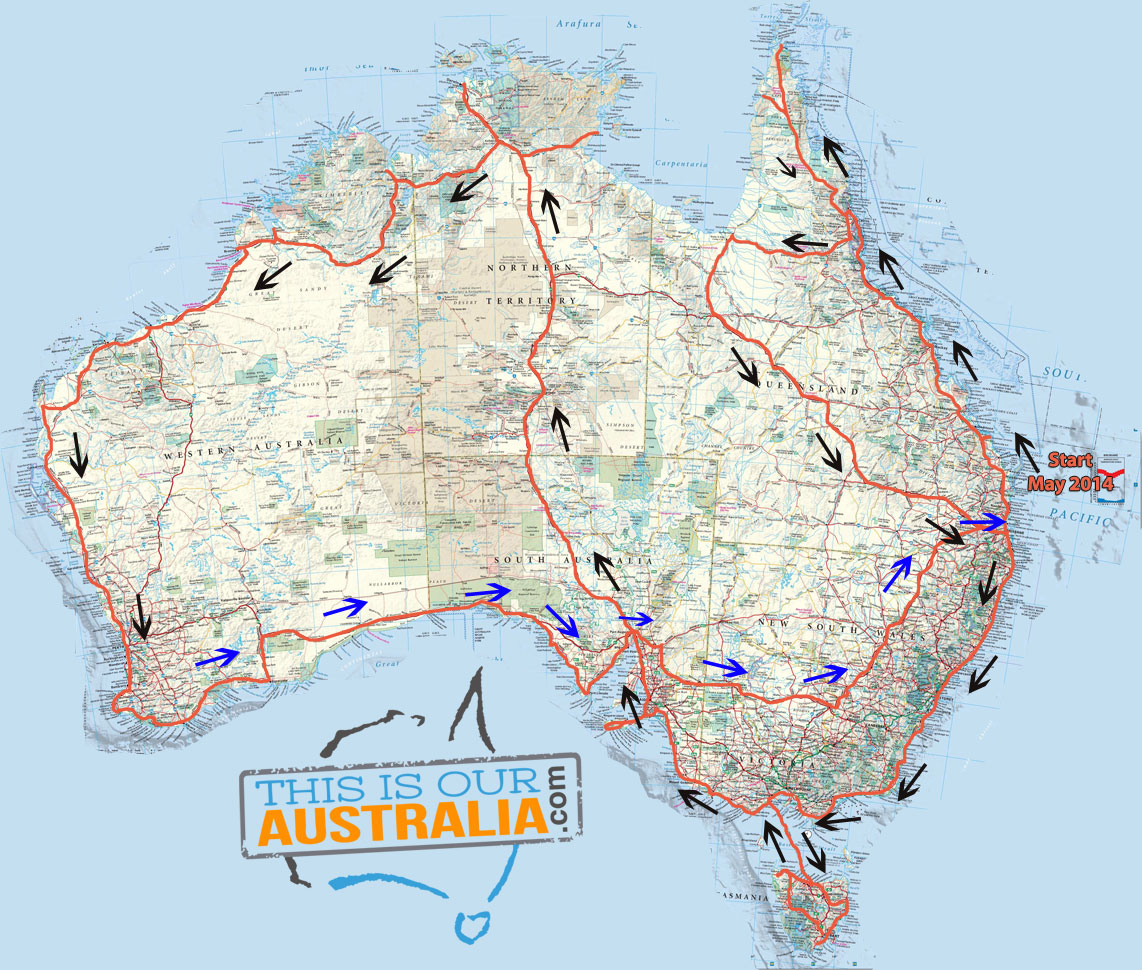 Caravan Road Trip Itinerary Around Australia - Australian road maps free