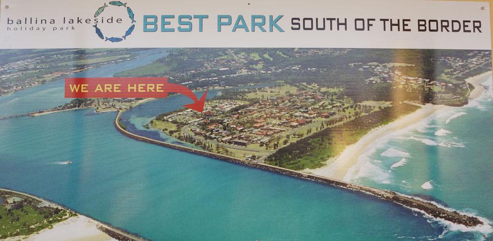 Ballina Lakeside Holiday Park Aerial View