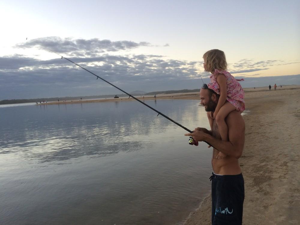 Warrick and Charlotte fishing at Punsand Bay, Cape York