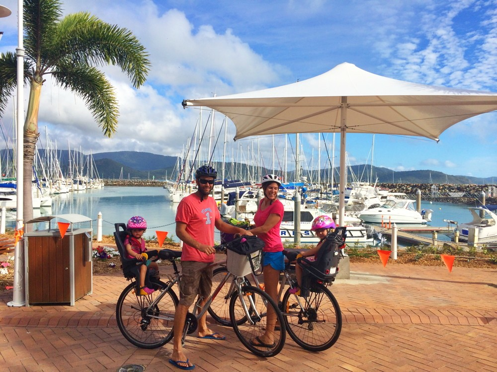 We take our bikes everywhere with us, here in Airlie Beach, QLD