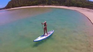Paddleboarding in Valla Beach