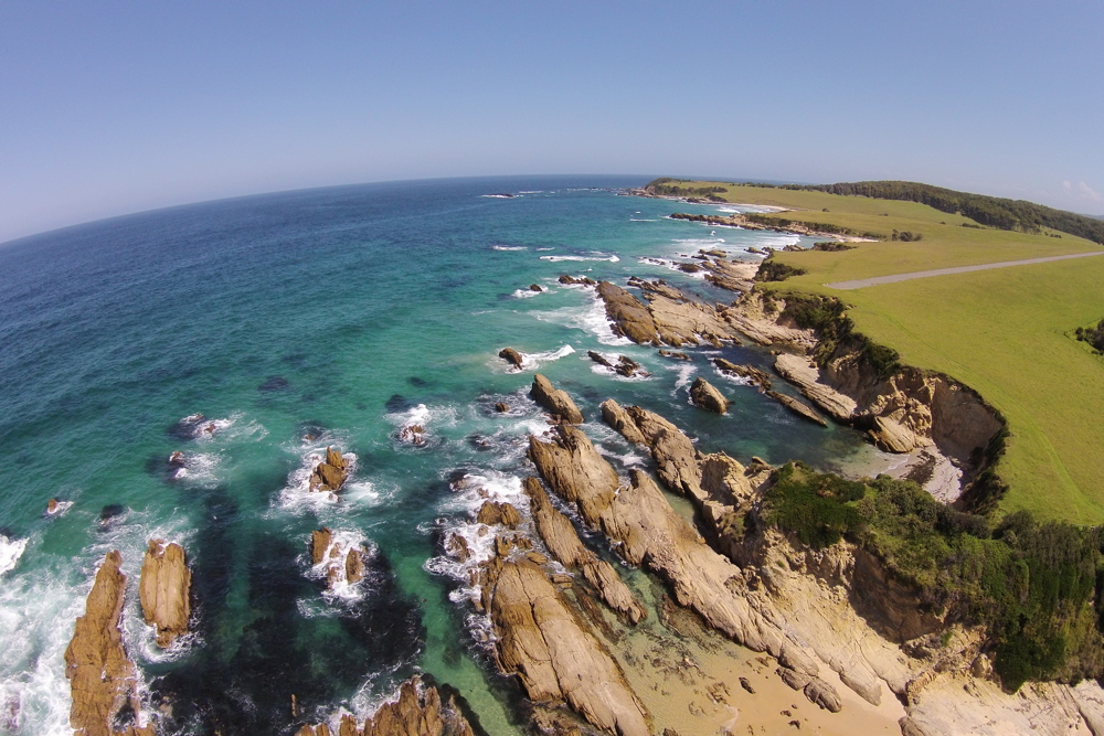 Narooma Hankerchief Beach Aerial View