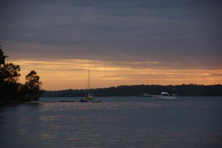 Sunset at Koala Shores Holiday Park