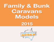 Models of family caravans and bunk vans